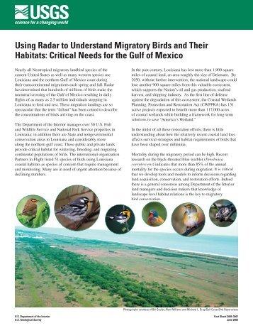 Using Radar to Understand Migratory Birds and Their Habitats ...