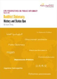 Buddhist Diplomacy: History And Status Quo. - USC Center on ...