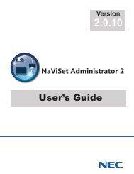 NaViSet Administrator 2 User's Guide - NEC Display Solutions