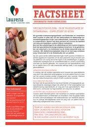 specialistische zorg - in de thuissituatie of intramuraal ... - Laurens