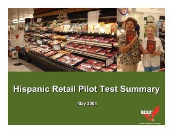 Hispanic Retail Pilot Test Summary - BeefRetail.org