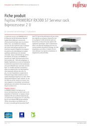 Fiche produit Fujitsu PRIMERGY RX300 S7 Serveur rack ...