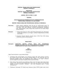 menteri tenaga kerja dan transmigrasi republik indonesia peraturan ...