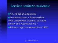 Mozzanica Mario. Riforme sanitarie 2011 - PO-Net Rete Civica di ...