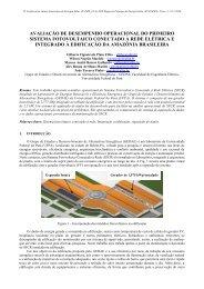 avaliação de desempenho operacional do primeiro sistema ...