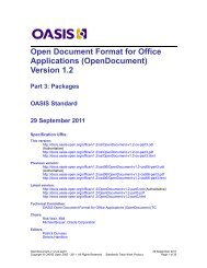 (OpenDocument) Version 1.2 - Part 3: Packages - OASIS Open Library