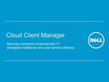 Dell Wyse Cloud Client Manager