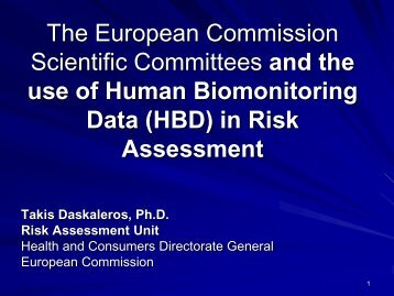 HBM data in risk assessment