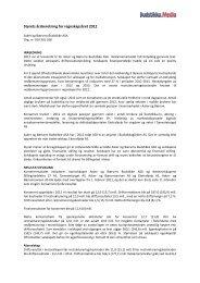Styrets årsberetning for regnskapsåret 2012