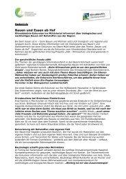 Bauen und Essen ab Hof - Klimaschutz und Energiewende in ...