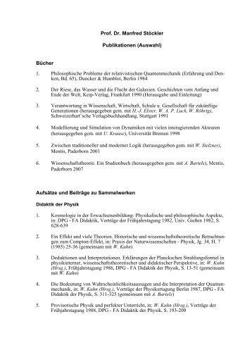 Publikationen - Fachbereich 9, Universität Bremen
