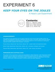 Keep Your Eyes on the Joules – A Hess' Law ... - Adam Equipment
