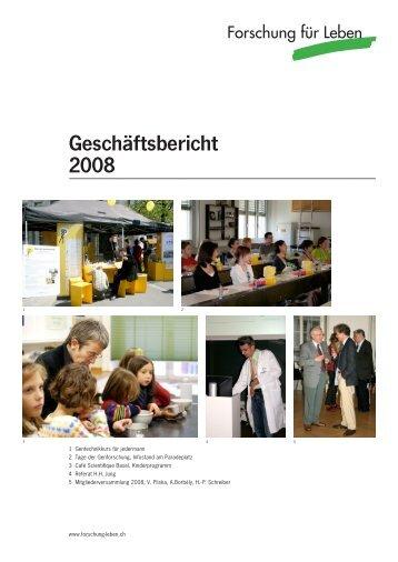 Geschäftsbericht 2008 - Forschung für Leben