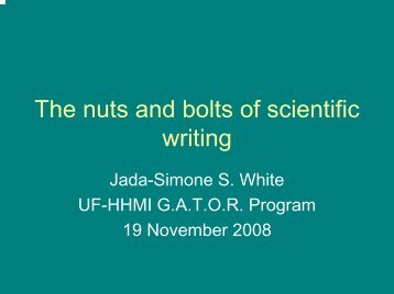 Writing the introduction - by Jada White
