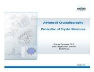 Bruker AXS Publication of Crystal Structures Webinar 20111013
