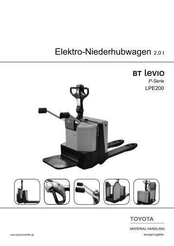 Elektro-Niederhubwagen Levio LPE200 - Toyota Material Handling ...