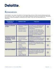 Ressources de Deloitte - Deloitte & Touche Canada