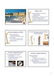 ESIN or FIN Contra indications of ESIN Forearm ... - Vinzenz Gruppe