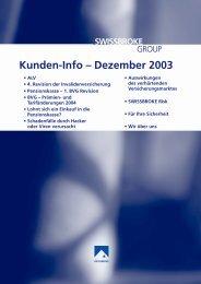 Ausgabe Dezember 2003 - swissbroke
