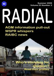 Sample Radial magazine - raibc