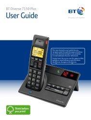 BT Diverse 7150 Plus User Guide - PMC Telecom