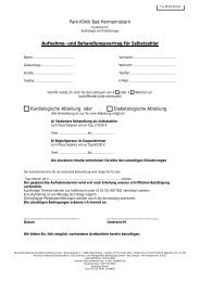 Park-Klinik Bad Hermannsborn Aufnahme- und Behandlungsvertrag ...
