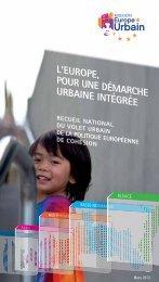 l'europe, pour une démarche urbaine intégrée recueil national du ...