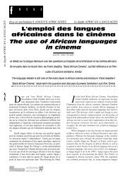 une appellation contrôlée / African cinema - Africultures