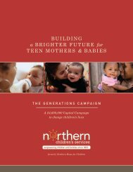Generations Campaign brochure - Northern Childrens Services