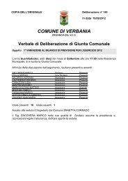 149 - 1° variazione al bilancio di previsione per l'esercizio 2012