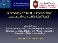 D - Waisman Laboratory for Brain Imaging and Behavior - University ...