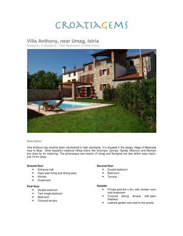 Villa Anthony, near Umag, Istria - Croatia Gems