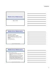 Middle School Mathematics School Committee Presentation May 17 ...