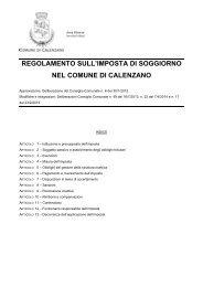 Regolamento su imposta di soggiorno - Comune di Calenzano