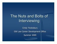 The Nuts and Bolts of Interviewing