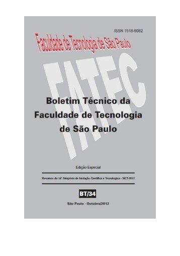 (qai) no ambiente ocupacional - Boletim Técnico da FATEC-SP