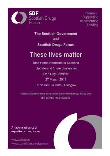 These lives matter - Drug Misuse Information Scotland