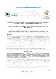 Ameliorative effect of ethanolic extract of Caralluma diazielli on ...