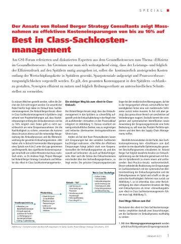 Artikel aus clinicum 3-11, Sachkostenmanagement ... - Roland Berger