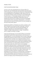 Michael Müller Verlag - Newsletter Juli 2005