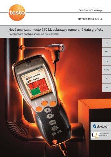 Nový analyzátor testo 330 LL zobrazuje namerané data ... - Testo AG