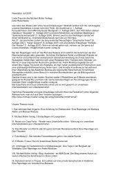 Newsletter Juli 2007