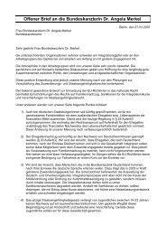 Offener Brief an die Bundeskanzlerin Dr. Angela Merkel - Pro Asyl