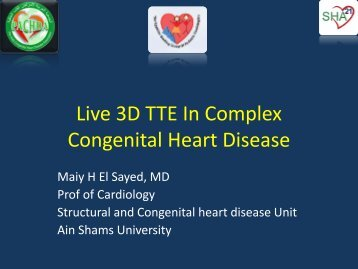 Live 3D TTE In Complex Congenital Heart Disease - RM Solutions