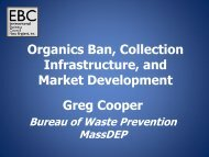 Organics Ban, Collection Infrastructure, and Market Development ...