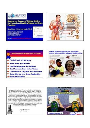 Research on Essence of Chicken - Mahidol University