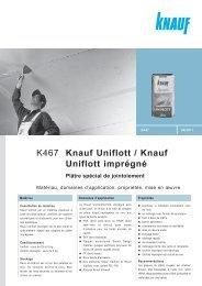 K467 Knauf Uniflott / Knauf Uniflott imprégné - BigMat