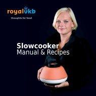 Handbuch zu Slowcooker von Royal VKB (PDF ca. 390 kb) - Connox