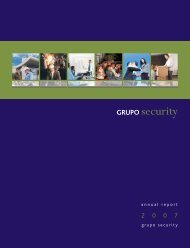 annual report grupo security - Banco Security