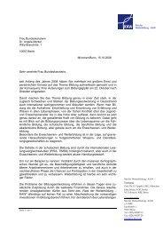 Frau Bundeskanzlerin Dr. Angela Merkel Willy-Brandt-Str. 1 10557 ...